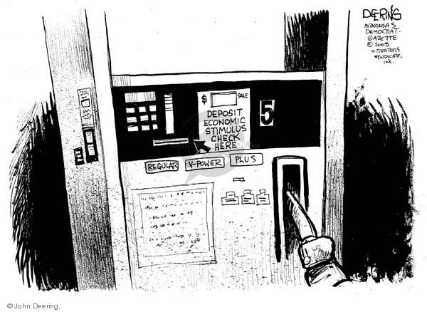 Cartoonist John Deering  John Deering's Editorial Cartoons 2008-04-28 gas price