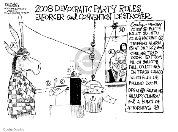 John Deering  John Deering's Editorial Cartoons 2008-05-29 democratic convention