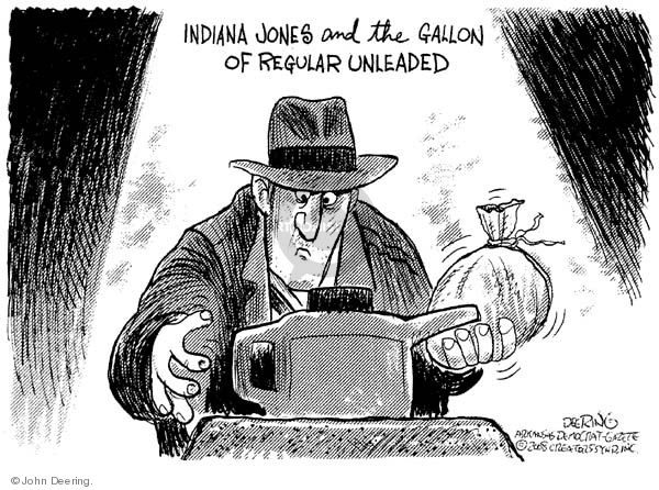 Cartoonist John Deering  John Deering's Editorial Cartoons 2008-06-10 gas
