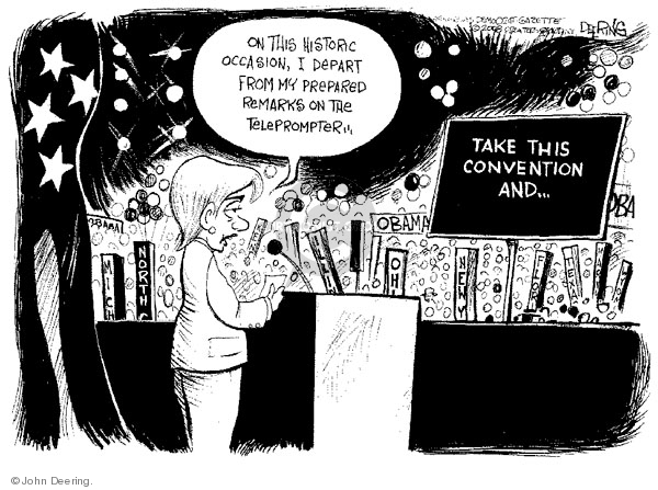 John Deering  John Deering's Editorial Cartoons 2008-08-27 2008 political convention