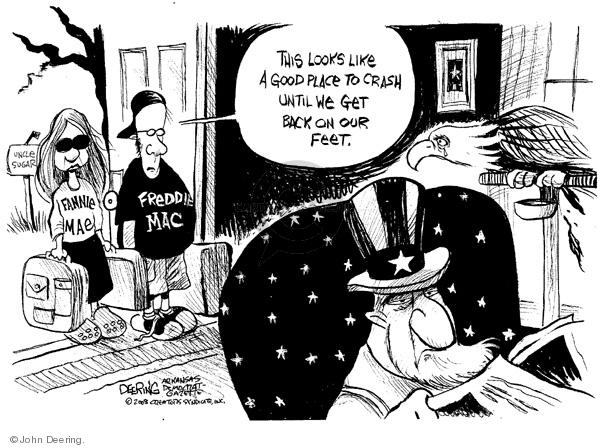 John Deering  John Deering's Editorial Cartoons 2008-09-09 house