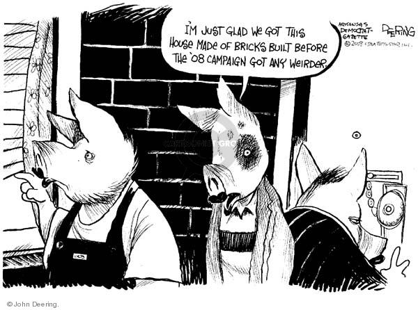 Cartoonist John Deering  John Deering's Editorial Cartoons 2008-09-12 house