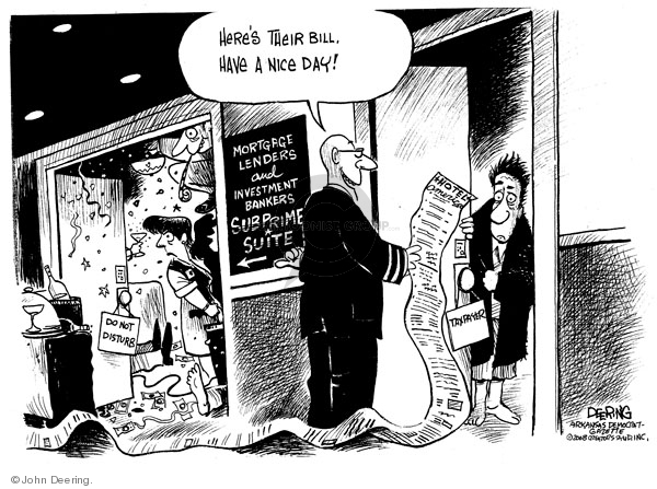 Cartoonist John Deering  John Deering's Editorial Cartoons 2008-09-22 banker
