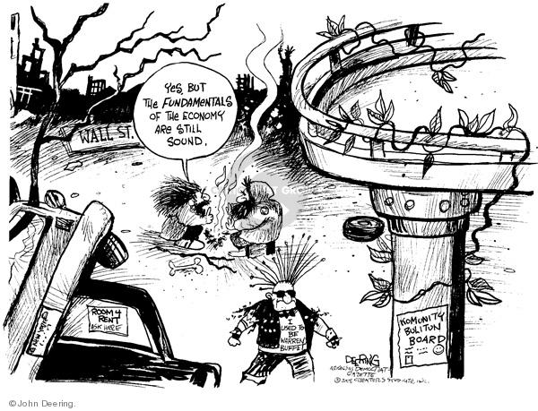 John Deering  John Deering's Editorial Cartoons 2008-09-30 economic
