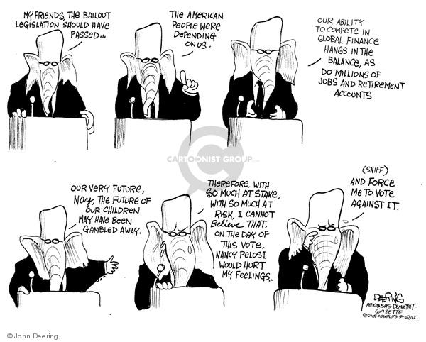 John Deering  John Deering's Editorial Cartoons 2008-10-01 house