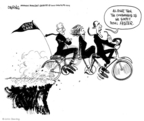 Cartoonist John Deering  John Deering's Editorial Cartoons 2010-03-11 bicycle