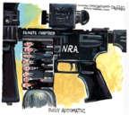 Cartoonist John Deering  John Deering's Editorial Cartoons 2013-04-20 gun