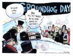 Cartoonist John Deering  John Deering's Editorial Cartoons 2014-02-01 snow day
