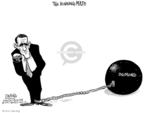 Cartoonist John Deering  John Deering's Editorial Cartoons 2007-12-11 ball