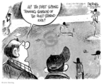 Cartoonist John Deering  John Deering's Editorial Cartoons 2007-12-14 baseball game
