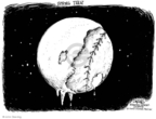 Cartoonist John Deering  John Deering's Editorial Cartoons 2008-04-08 baseball