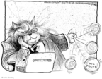 Cartoonist John Deering  John Deering's Editorial Cartoons 2008-07-23 cat