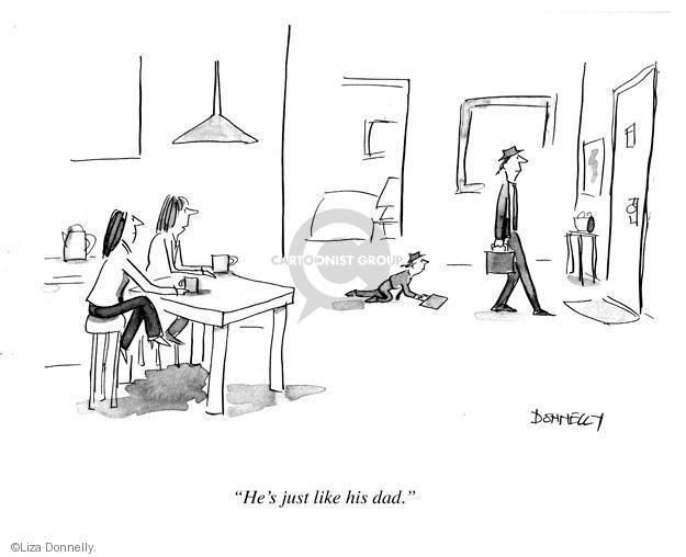 Cartoonist Liza Donnelly  Liza Donnelly's Panel Cartoons 2013-02-04 dad