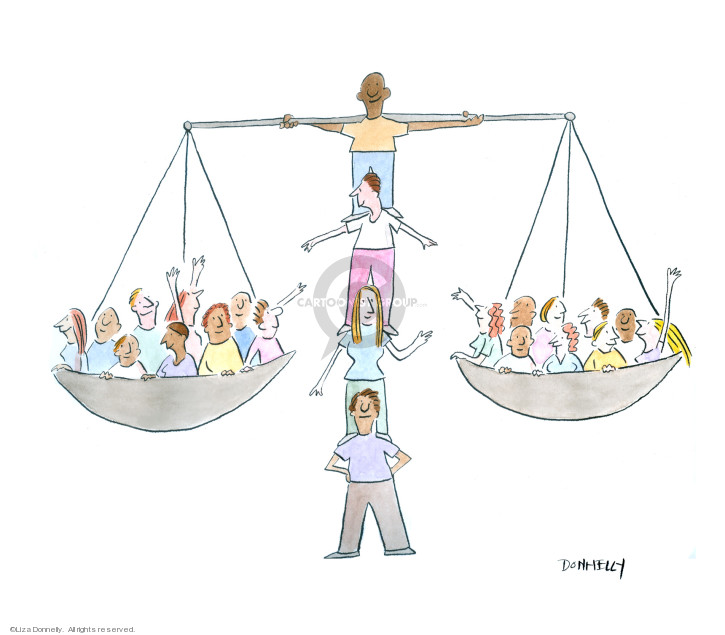 Cartoonist Liza Donnelly  Liza Donnelly's Panel Cartoons 2019-06-24 equal rights