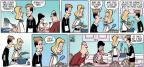Cartoonist Steve Kelley Jeff Parker  Dustin 2014-03-16 plate