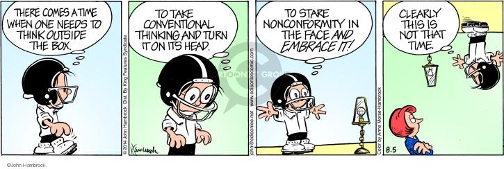 Comic strip nonconformity
