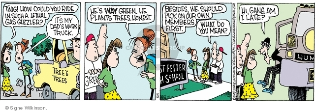 Comic Strip Signe Wilkinson  Family Tree 2008-12-06 green