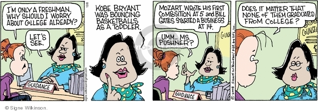 Cartoonist Signe Wilkinson  Family Tree 2008-12-08 Kobe Bryant