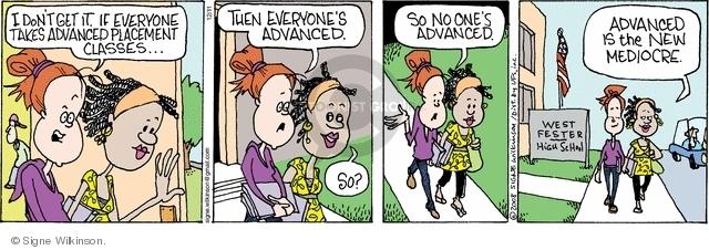 Comic Strip Signe Wilkinson  Family Tree 2008-12-11 education