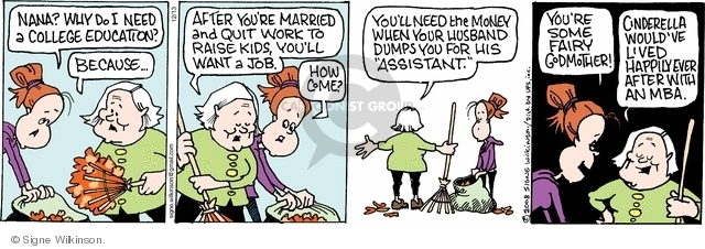 Comic Strip Signe Wilkinson  Family Tree 2008-12-13 marriage