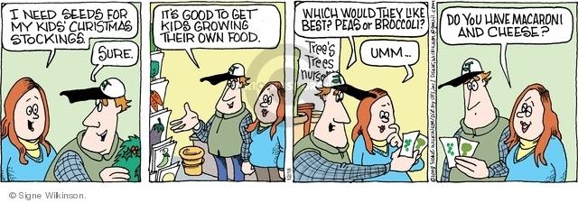Comic Strip Signe Wilkinson  Family Tree 2008-12-18 parent