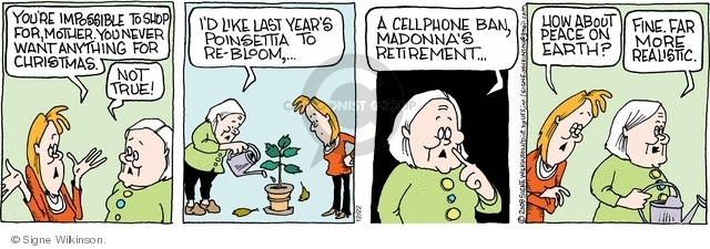 Comic Strip Signe Wilkinson  Family Tree 2008-12-22 plant