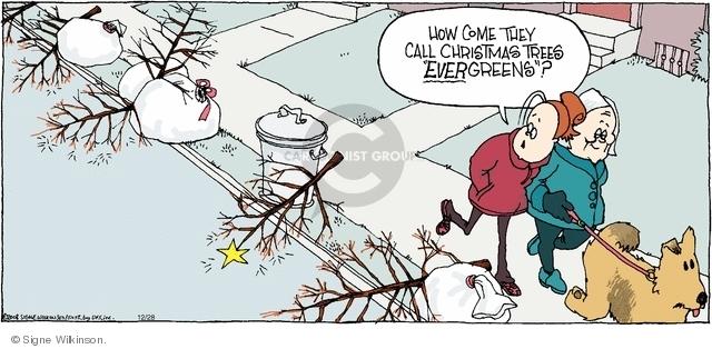 Cartoonist Signe Wilkinson  Family Tree 2008-12-28 garbage