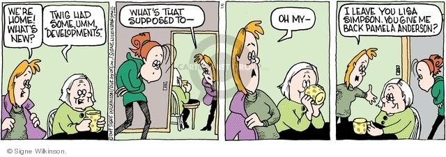 Comic Strip Signe Wilkinson  Family Tree 2009-01-06 leave