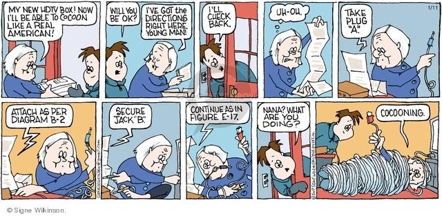 Comic Strip Signe Wilkinson  Family Tree 2009-01-11 grandchild