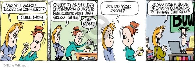 Comic Strip Signe Wilkinson  Family Tree 2009-01-30 chill