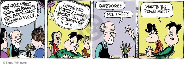 Comic Strip Signe Wilkinson  Family Tree 2009-02-02 new student