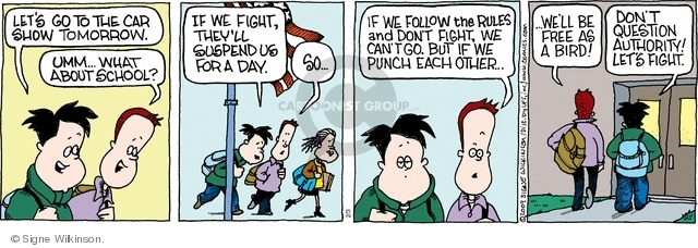 Comic Strip Signe Wilkinson  Family Tree 2009-02-03 school suspension