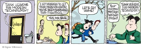 Comic Strip Signe Wilkinson  Family Tree 2009-02-11 trouble