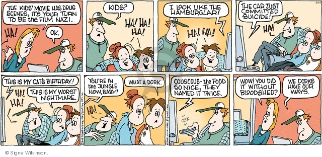 Comic Strip Signe Wilkinson  Family Tree 2009-02-15 teen