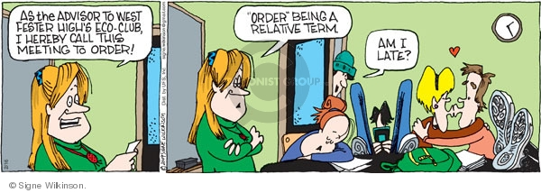 Comic Strip Signe Wilkinson  Family Tree 2009-02-16 education