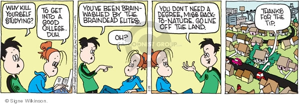 Comic Strip Signe Wilkinson  Family Tree 2009-02-28 higher education