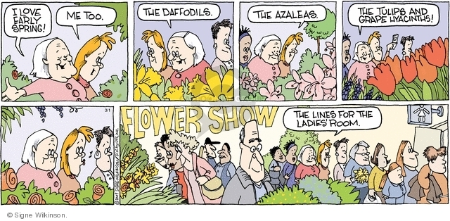 Comic Strip Signe Wilkinson  Family Tree 2009-03-01 flower show