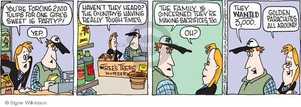 Comic Strip Signe Wilkinson  Family Tree 2009-03-10 organic food