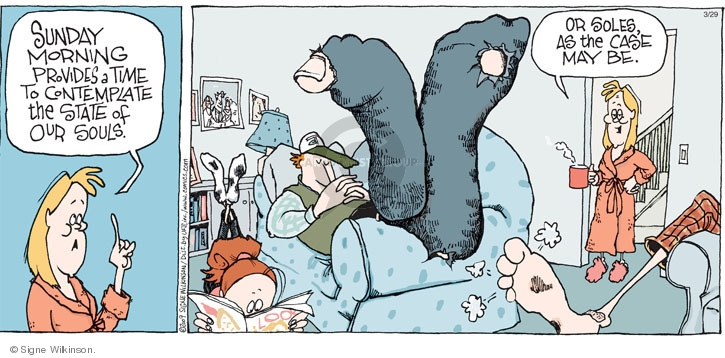 Comic Strip Signe Wilkinson  Family Tree 2009-03-29 morning