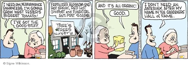 Comic Strip Signe Wilkinson  Family Tree 2009-04-04 organic vegetable