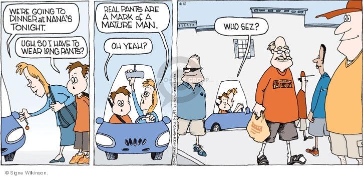 Comic Strip Signe Wilkinson  Family Tree 2009-04-12 male