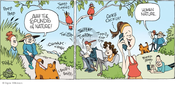 Comic Strip Signe Wilkinson  Family Tree 2009-04-19 sniff