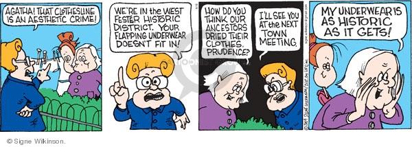 Comic Strip Signe Wilkinson  Family Tree 2009-04-16 community