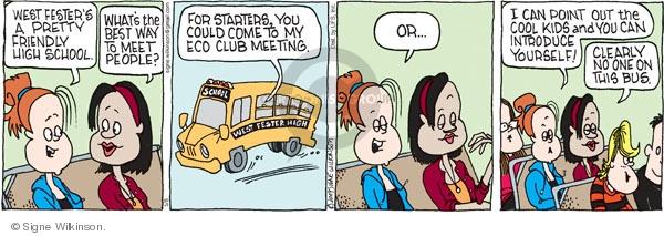 Comic Strip Signe Wilkinson  Family Tree 2009-05-08 point