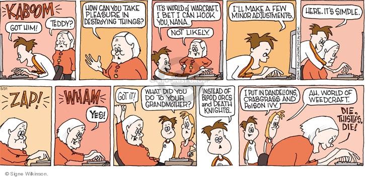 Comic Strip Signe Wilkinson  Family Tree 2009-05-31 game
