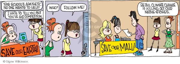 Comic Strip Signe Wilkinson  Family Tree 2009-06-08 strip mall