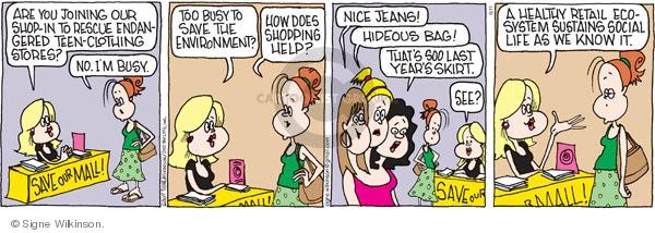 Comic Strip Signe Wilkinson  Family Tree 2009-06-11 retail