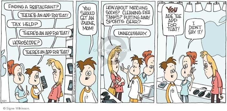 Comic Strip Signe Wilkinson  Family Tree 2009-06-21 tax