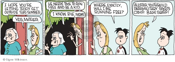 Comic Strip Signe Wilkinson  Family Tree 2009-06-29 camp