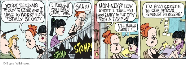 Comic Strip Signe Wilkinson  Family Tree 2009-07-03 feminism